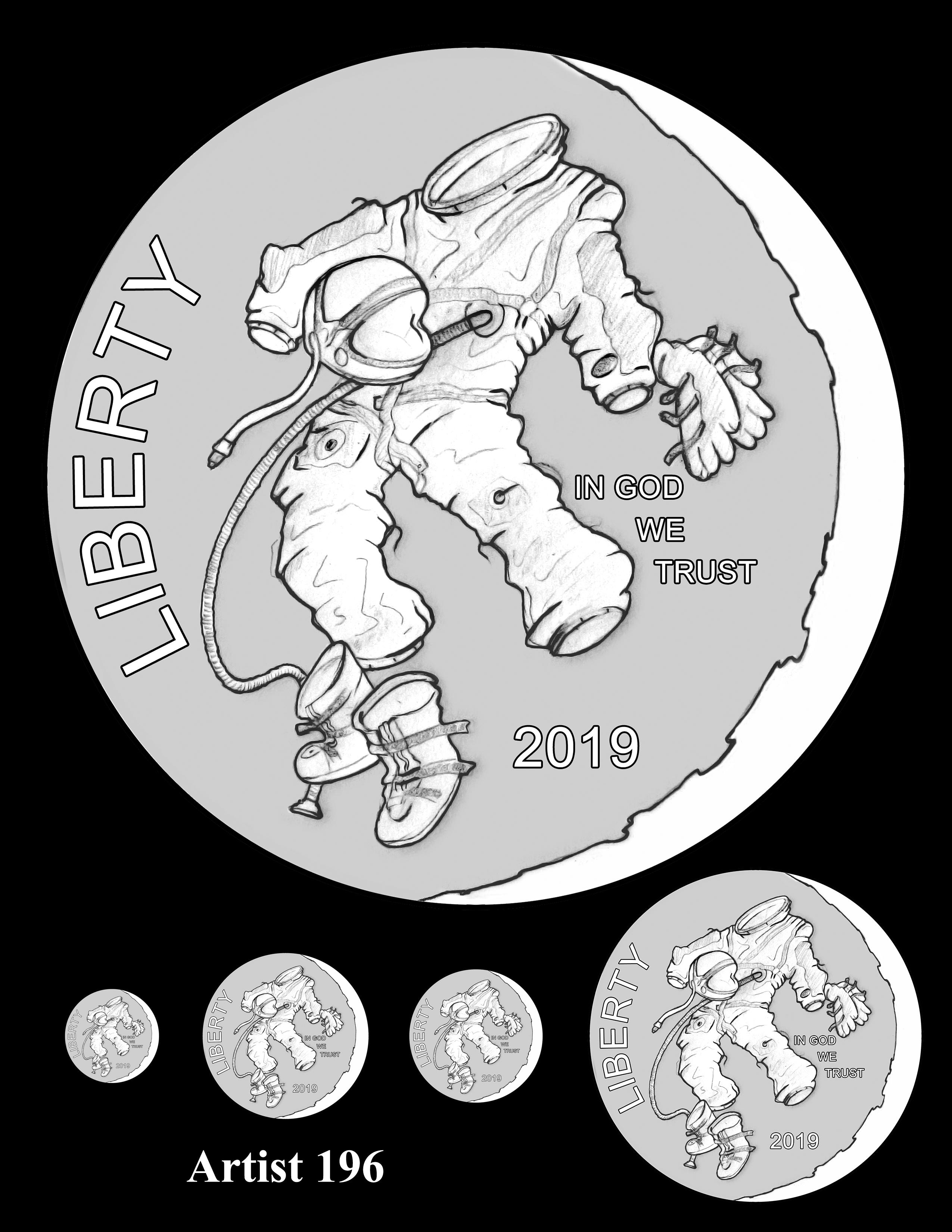 Artist 196 -- Apollo 11 50th Anniversary Commemorative Coin Obverse Design Competition