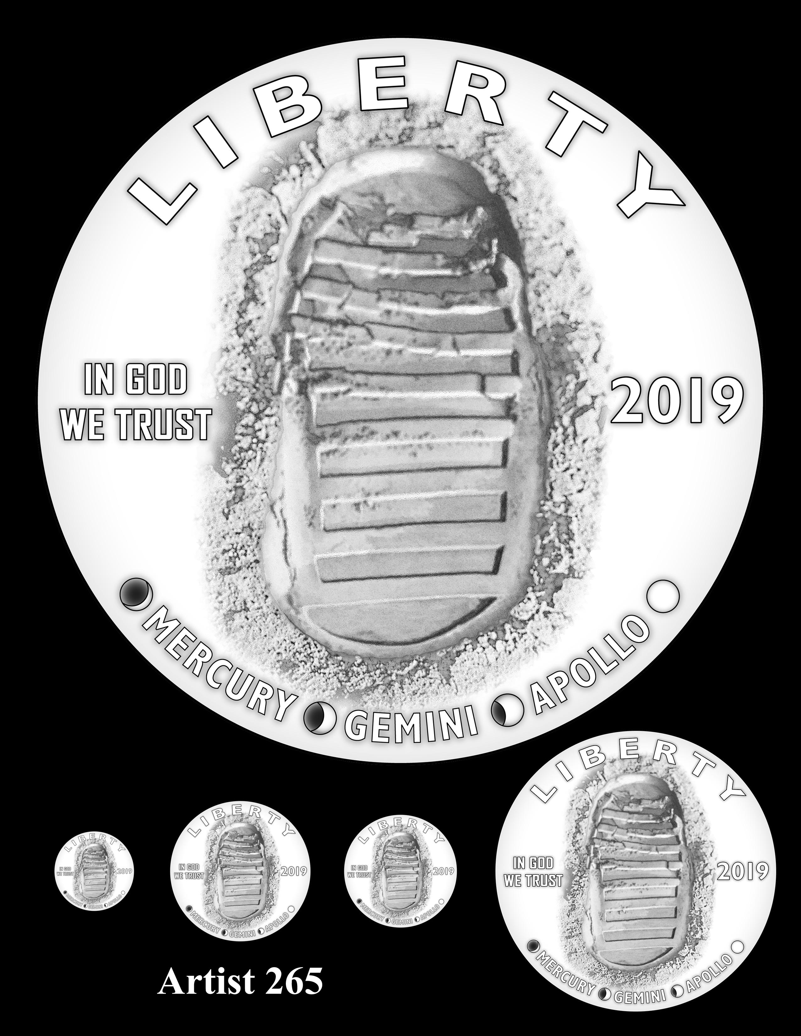 Artist 265 -- Apollo 11 50th Anniversary Commemorative Coin Obverse Design Competition