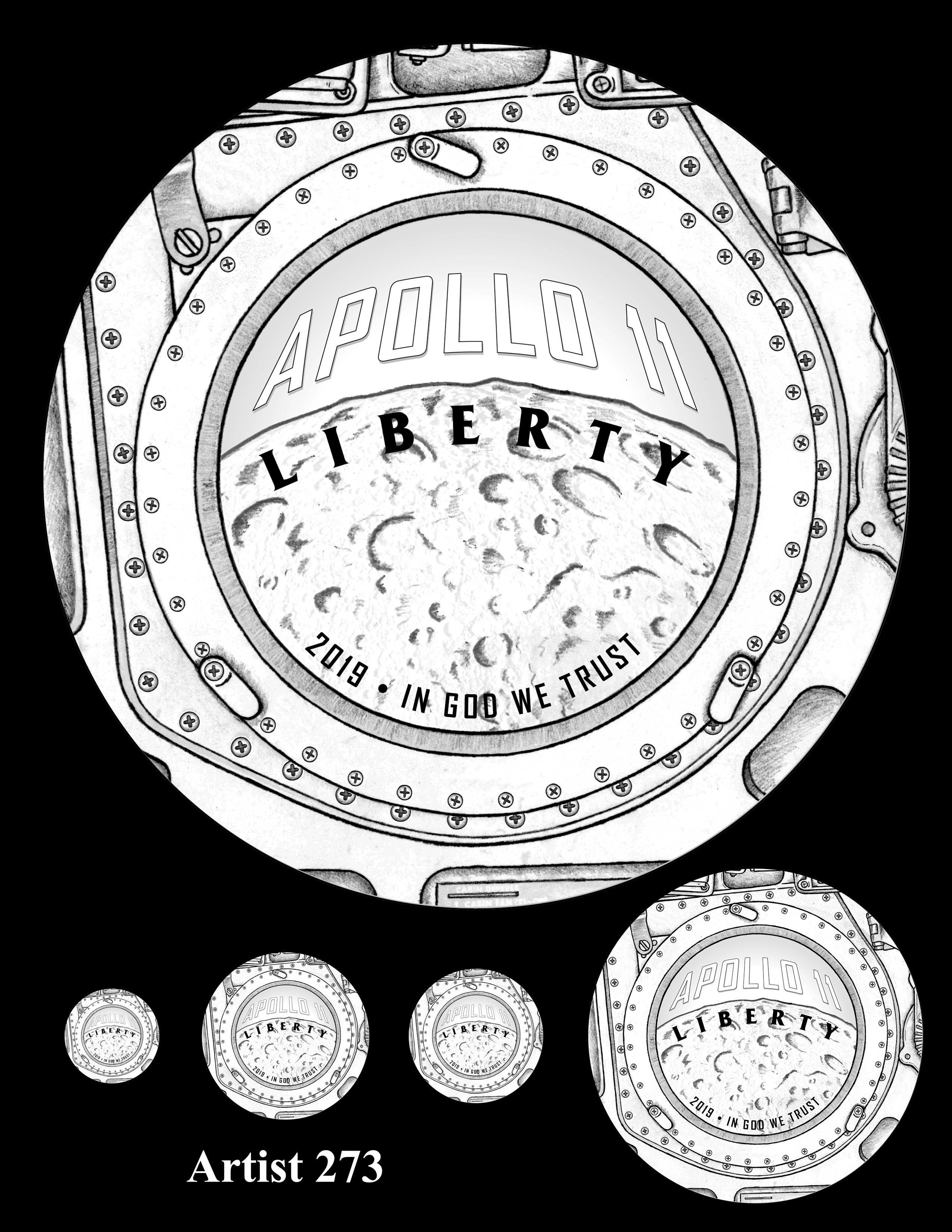 Artist 273 -- Apollo 11 50th Anniversary Commemorative Coin Obverse Design Competition