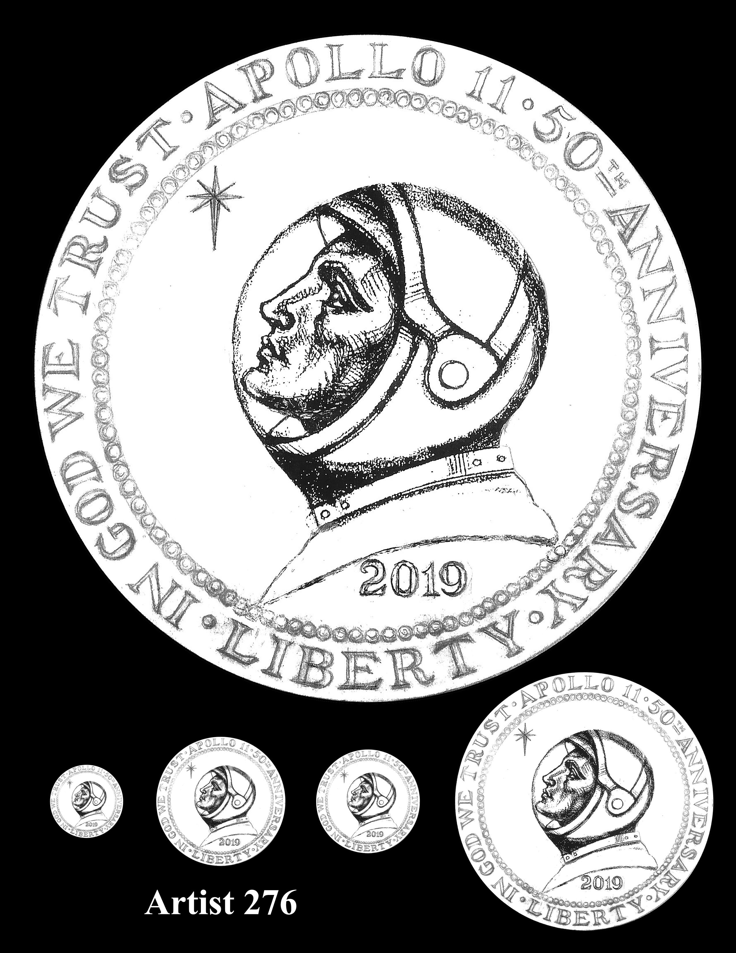 Artist 276 -- Apollo 11 50th Anniversary Commemorative Coin Obverse Design Competition