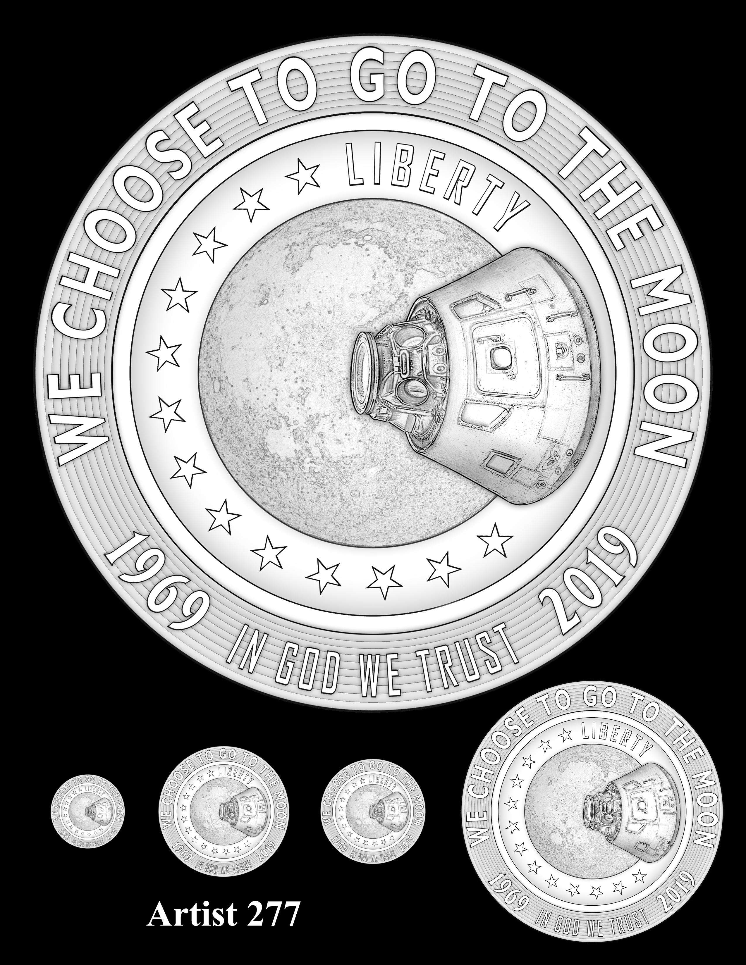 Artist 277 -- Apollo 11 50th Anniversary Commemorative Coin Obverse Design Competition