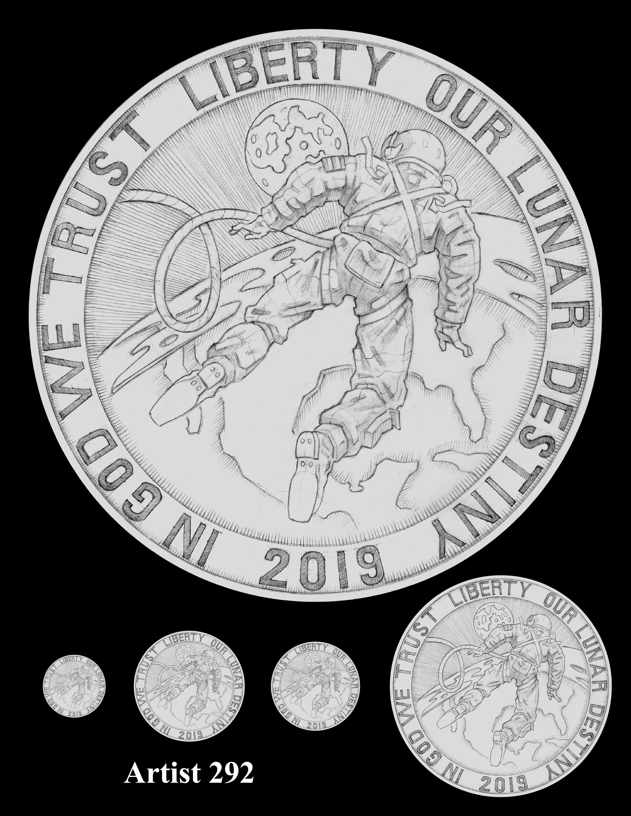 Artist 292 -- Apollo 11 50th Anniversary Commemorative Coin Obverse Design Competition