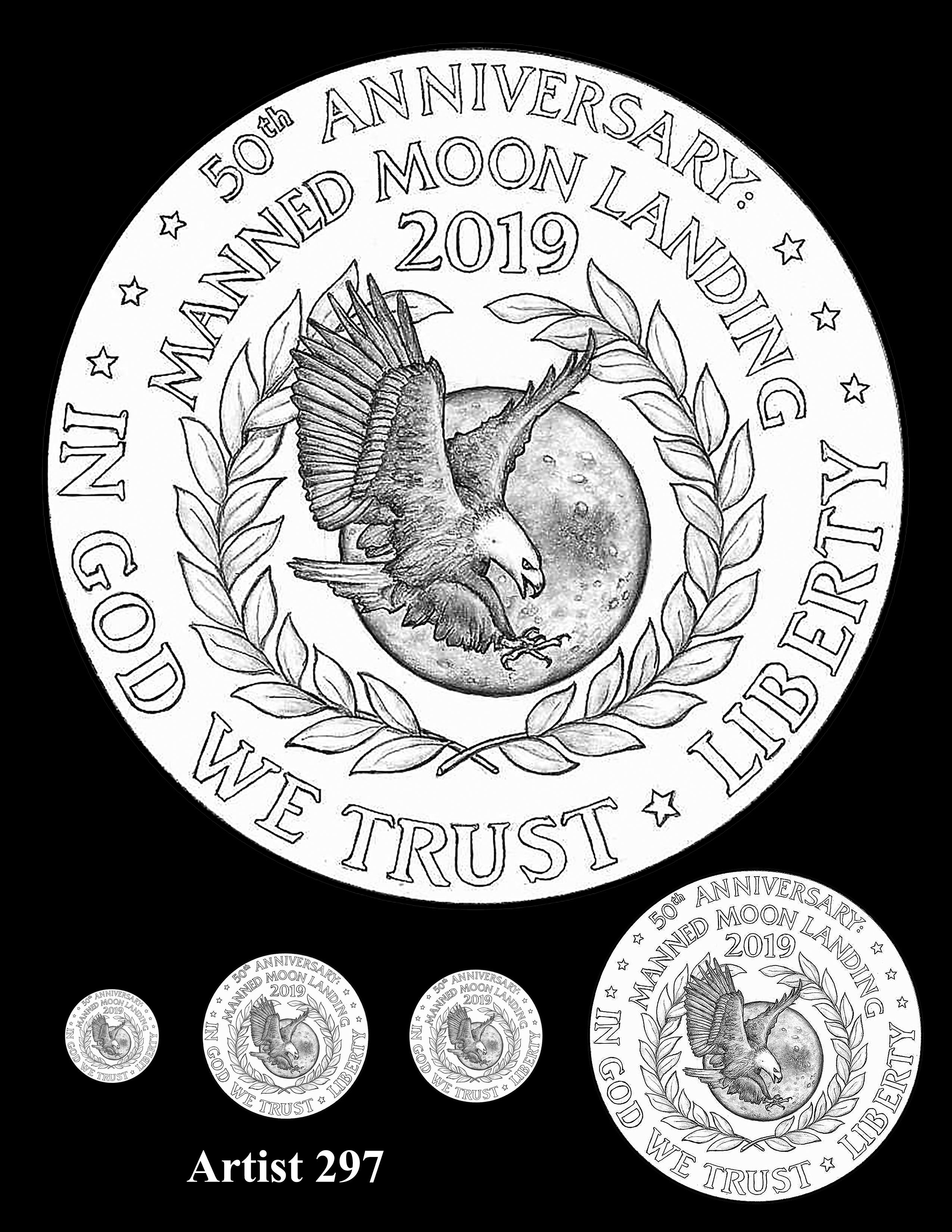 Artist 297 -- Apollo 11 50th Anniversary Commemorative Coin Obverse Design Competition