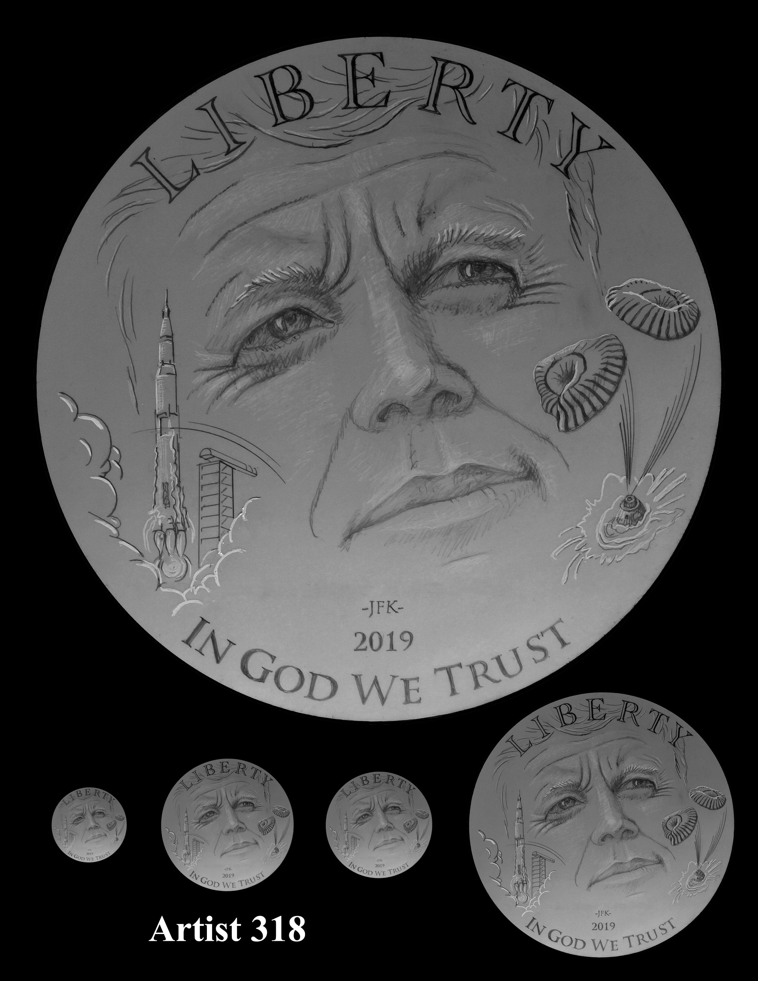 Artist 318 -- Apollo 11 50th Anniversary Commemorative Coin Obverse Design Competition