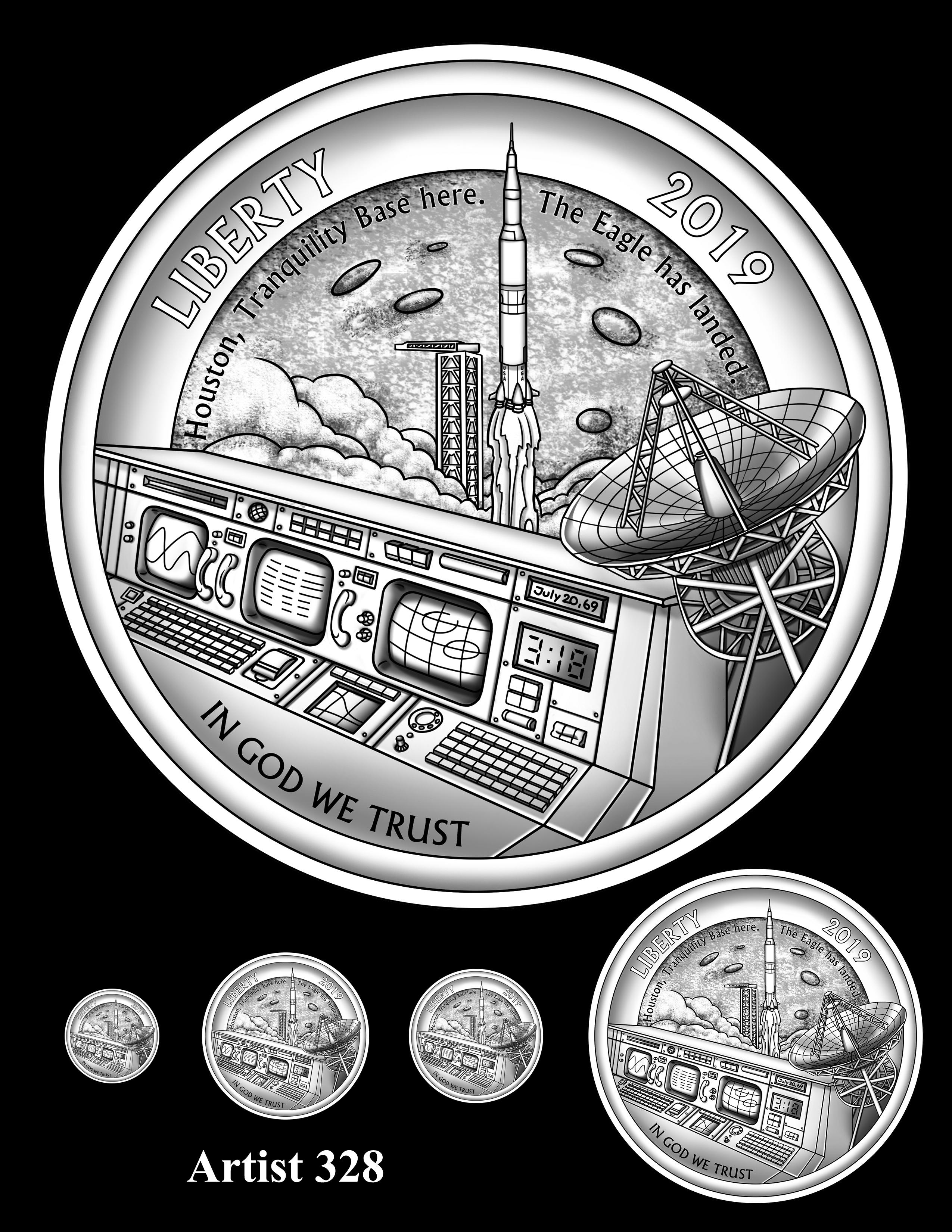 Artist 328 -- Apollo 11 50th Anniversary Commemorative Coin Obverse Design Competition