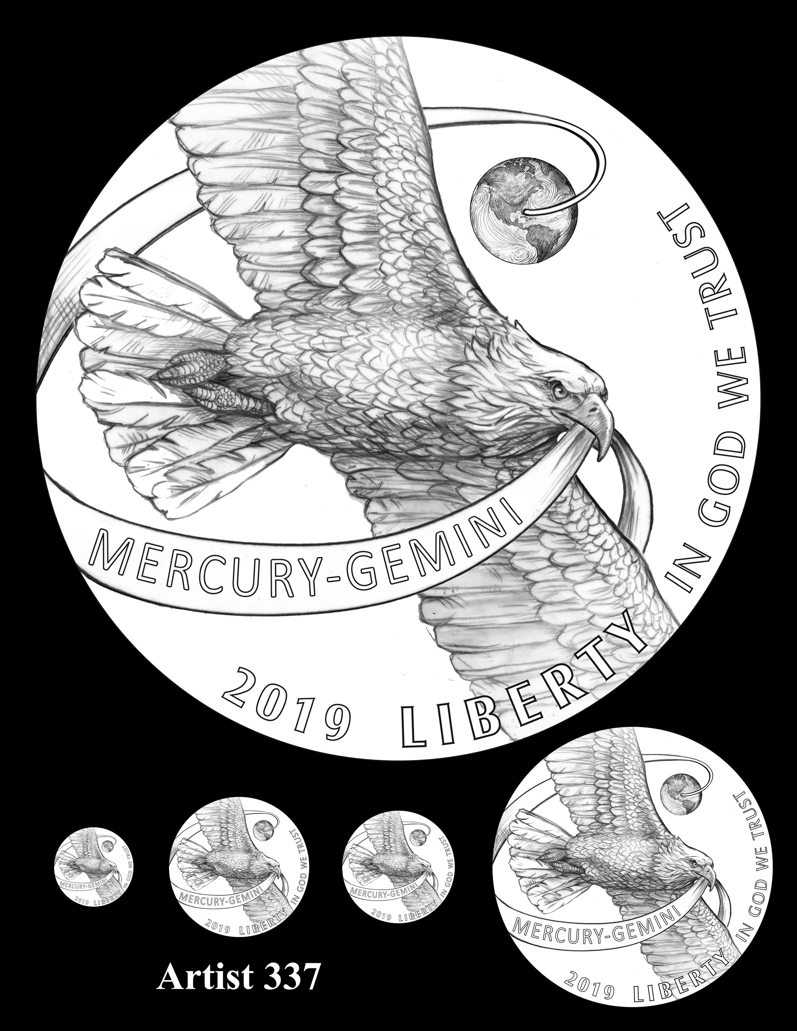 Artist 337 -- Apollo 11 50th Anniversary Commemorative Coin Obverse Design Competition