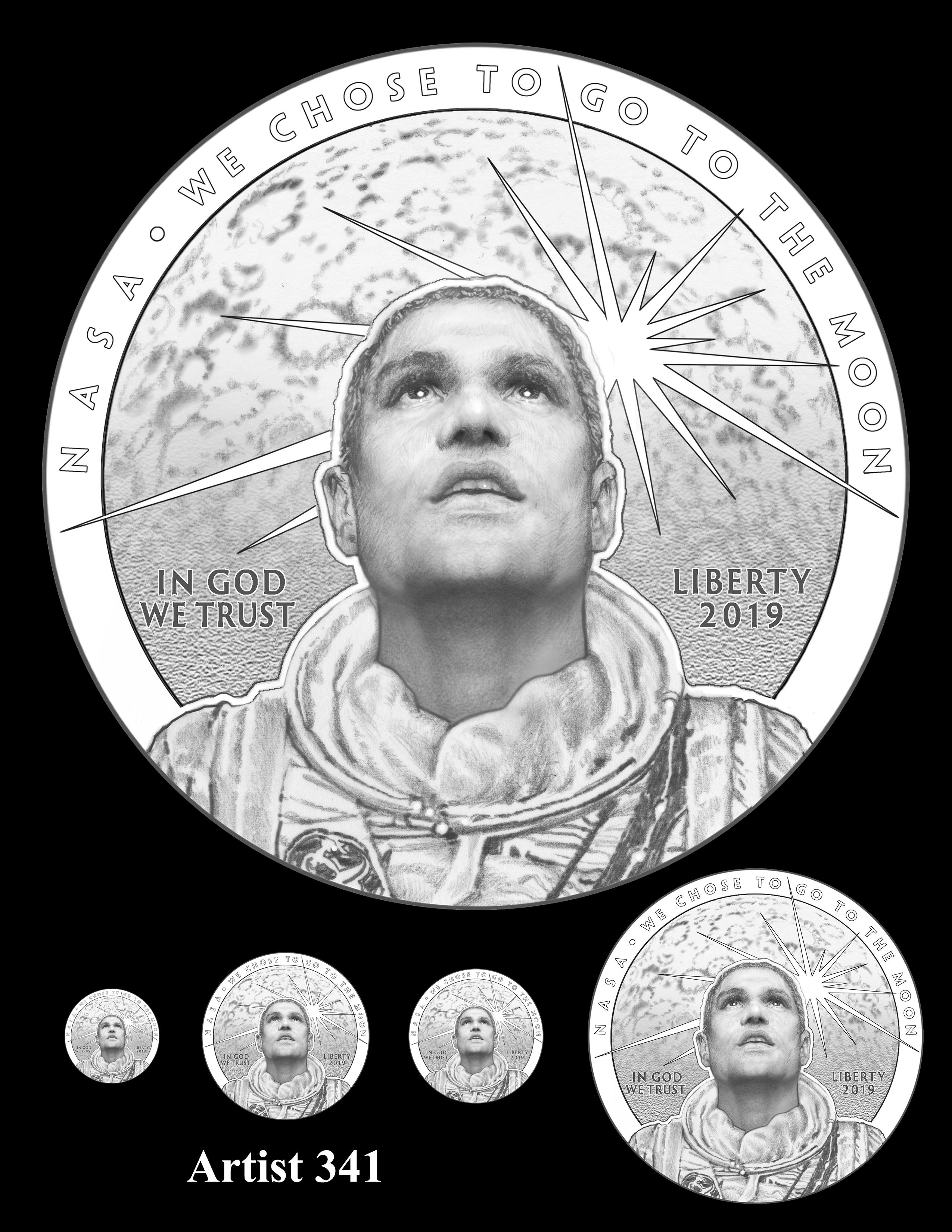 Artist 341 -- Apollo 11 50th Anniversary Commemorative Coin Obverse Design Competition