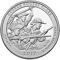 George Rogers Clark Quarter Proof Reverse