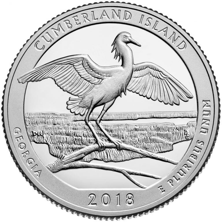 2018 America the Beautiful Quarters Coin Cumberland Island Georgia Proof Reverse