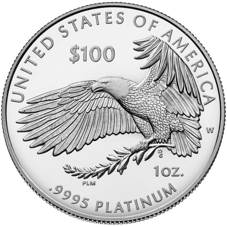 2018 American Eagle Platinum One Ounce Proof Coin Reverse