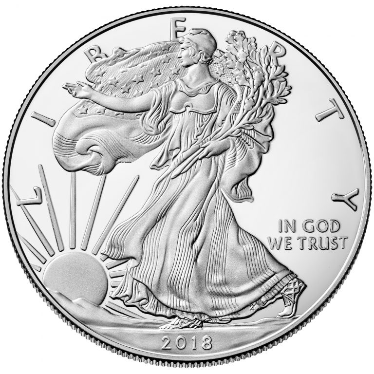 2018 American Eagle Silver One Ounce Proof Coin Obverse