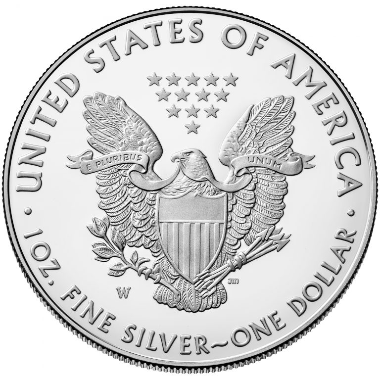 2018 American Eagle Silver One Ounce Proof Coin Reverse