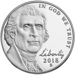 2018 Jefferson Nickel Proof Obverse San Francisco