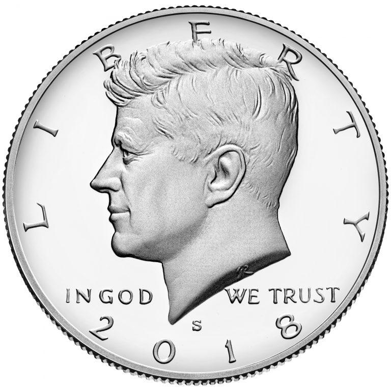 2018 Kennedy Half Dollar Proof Obverse San Francisco
