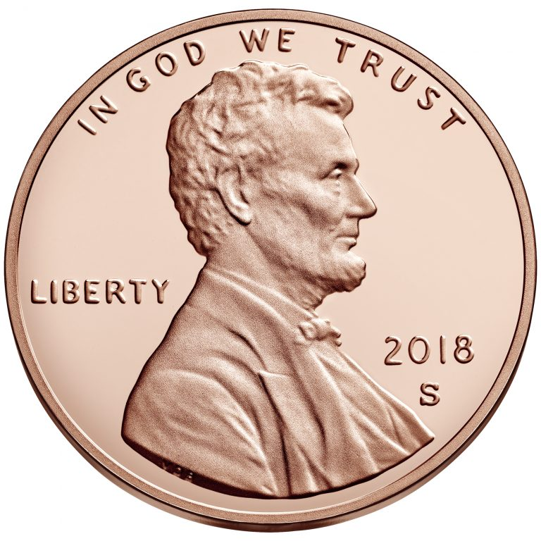 2018 Lincoln Penny Proof Obverse San Francisco