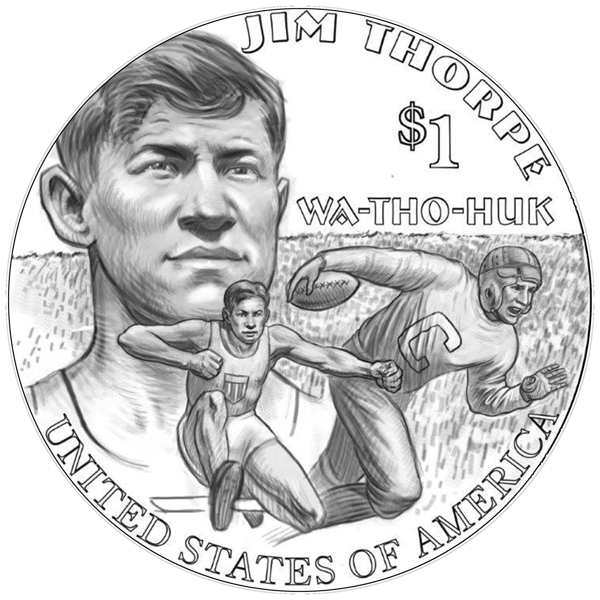 2018 Native American Dollar Line Art Reverse