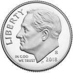 2018 Roosevelt Dime Proof Obverse San Francisco