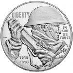 2018 World War I Centennial Commemorative Silver Proof Obverse