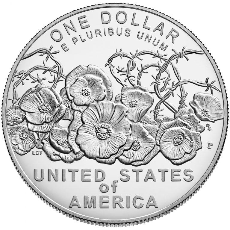 2018 World War I Centennial Commemorative Silver Proof Reverse