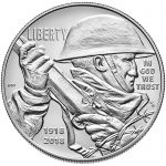 2018 World War I Centennial Commemorative Silver Uncirculated Obverse