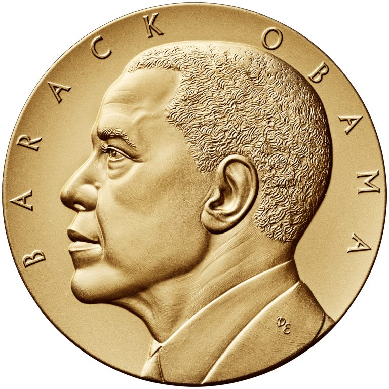 Barack Obama Term 2 Presidential Bronze Medal Obverse