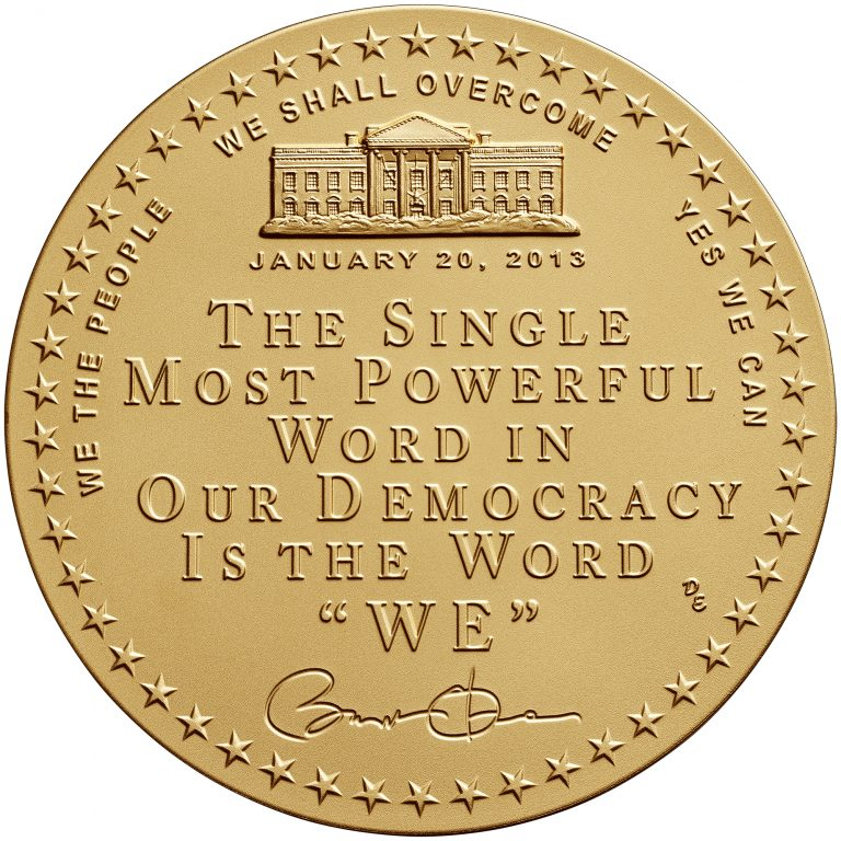 Barack Obama Term 2 Presidential Bronze Medal Reverse
