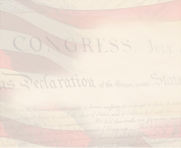 Opaque American flag with words from the Declaration of Independence.
