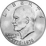 1976 Dwight Eisenhower Bicentennial One Dollar Obverse