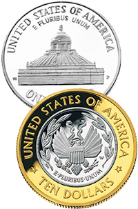 2000 Library of Congress Commemorative Coin Program Reverses