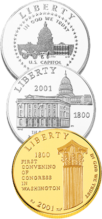 2001 U.S. Capitol Visitor Center Commemorative Coin Program Obverses