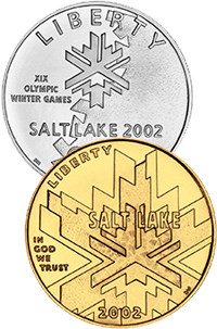 2002 Olympic Winter Games Commemorative Coin Program Obverses
