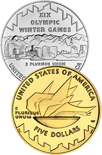 2002 Olympic Winter Games Commemorative Coin Program Reverses