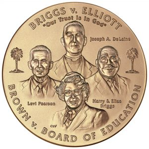 2003 Brown vs Board of Education of Topeka Bronze Medal Obverse