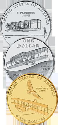 2003 First Flight Centennial Commemorative Coin Program Reverses