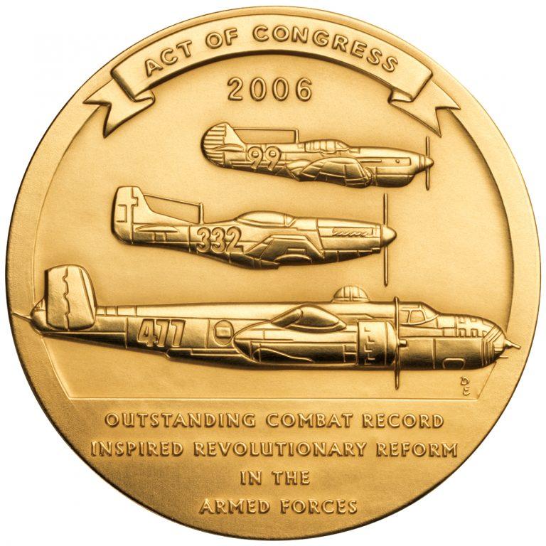 2006 Tuskegee Airmen Bronze Medal Reverse