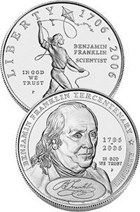 2006 Benjamin Franklin Commemorative Coin Program Obverses