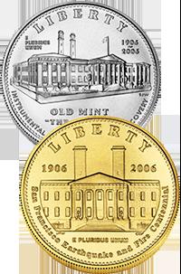 2006 San Francisco Old Mint Commemorative Coin Program Obverses