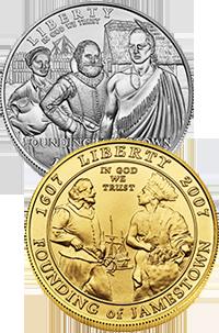 2007 Jamestown 400th Anniversary Commemorative Coin Program Obverses