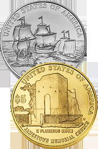 2007 Jamestown 400th Anniversary Commemorative Coin Program Reverses