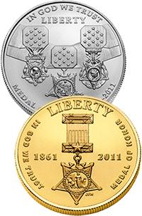 2011 Medal of Honor Commemorative Coin Program Obverses