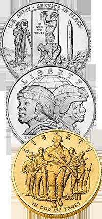 2011 U.S. Army Commemorative Coin Program Obverses