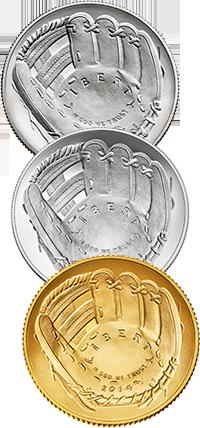 2014 National Baseball Hall of Fame Commemorative Coin Program Obverses
