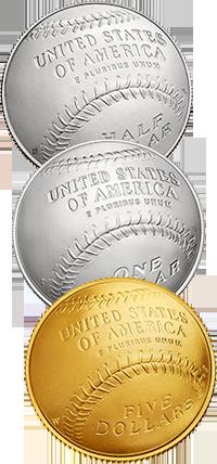 2014 National Baseball Hall of Fame Commemorative Coin Program Reverses