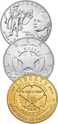 2015 U.S. Marshals 225th Anniversary Commemorative Coin Program Obverses