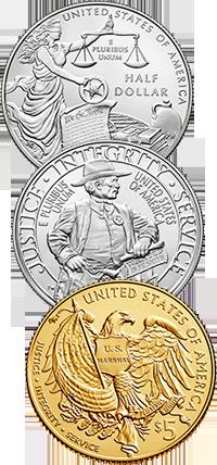 2015 U.S. Marshals 225th Anniversary Commemorative Coin Program Reverses