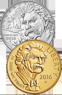 2016 Mark Twain Commemorative Coin Program Obverses