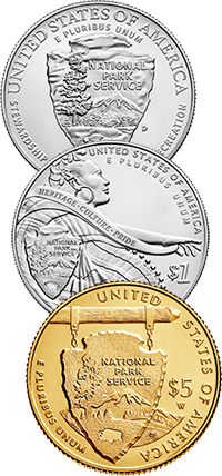 2016 National Park Service Centennial Commemorative Coin Program Reverses