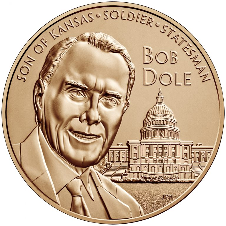 Bob Dole Bronze Medal One and One-Half Inch Obverse