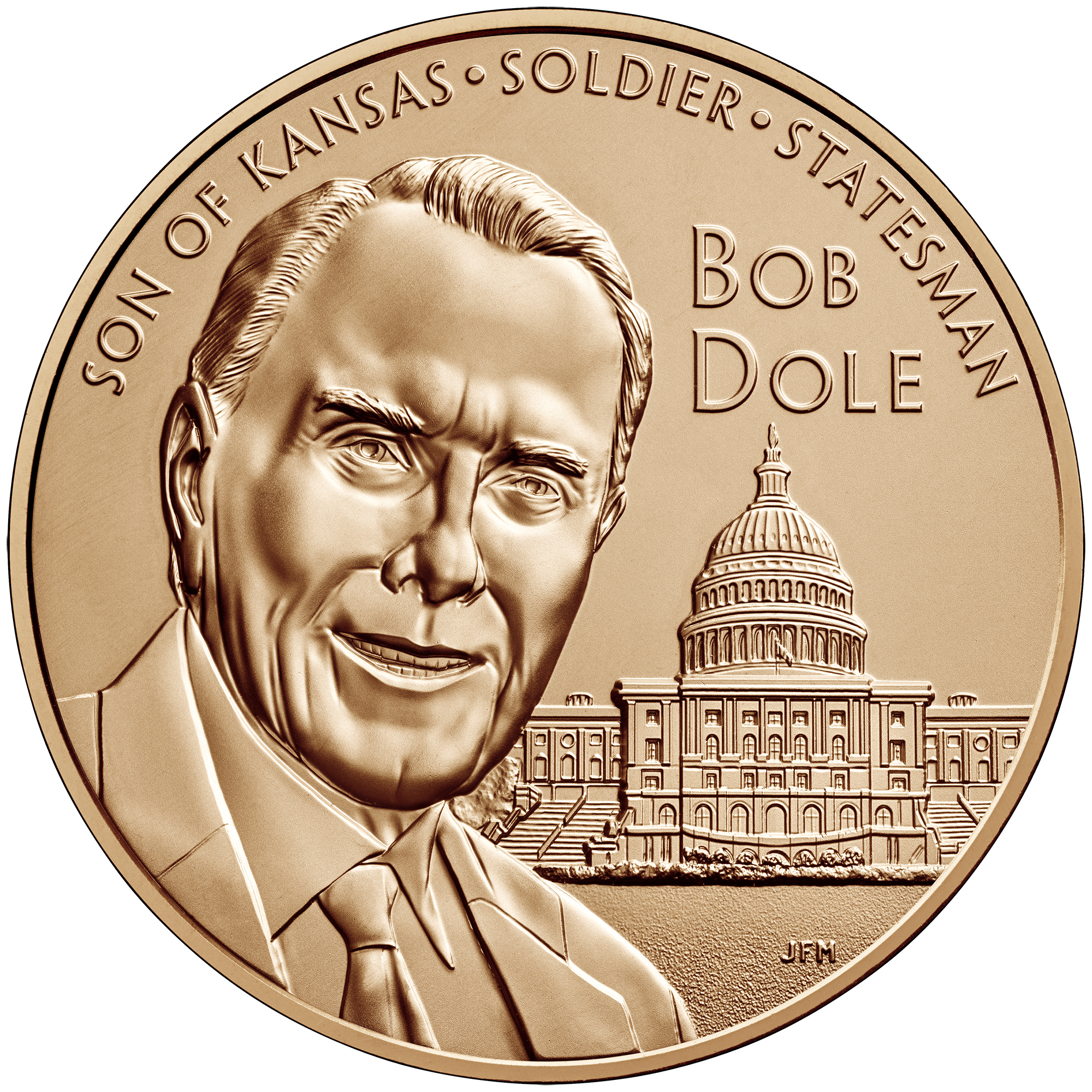 2017 Bob Dole Bronze Medal One and One-Half Inch Obverse