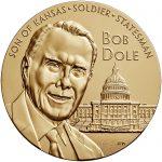 Bob Dole Bronze Medal Three Inch Obverse